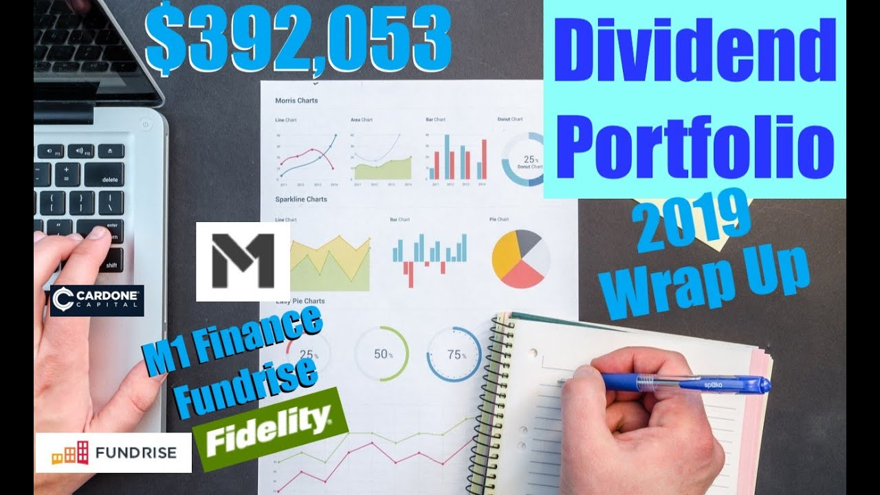 Dividend Income Wrap Up 2019, M1 Finance, Fundrise, Fidelity Investments   Dividends, Passive Income Logo
