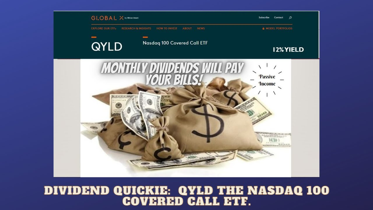 Dividend Investing for Passive Income!  QYLD the Option ETF (12% Yield). Logo
