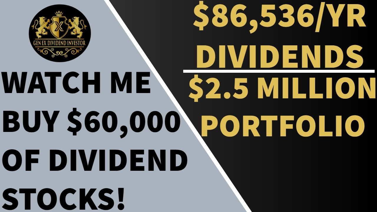 Watch Me Buy $60,000 of Dividend Stocks Logo